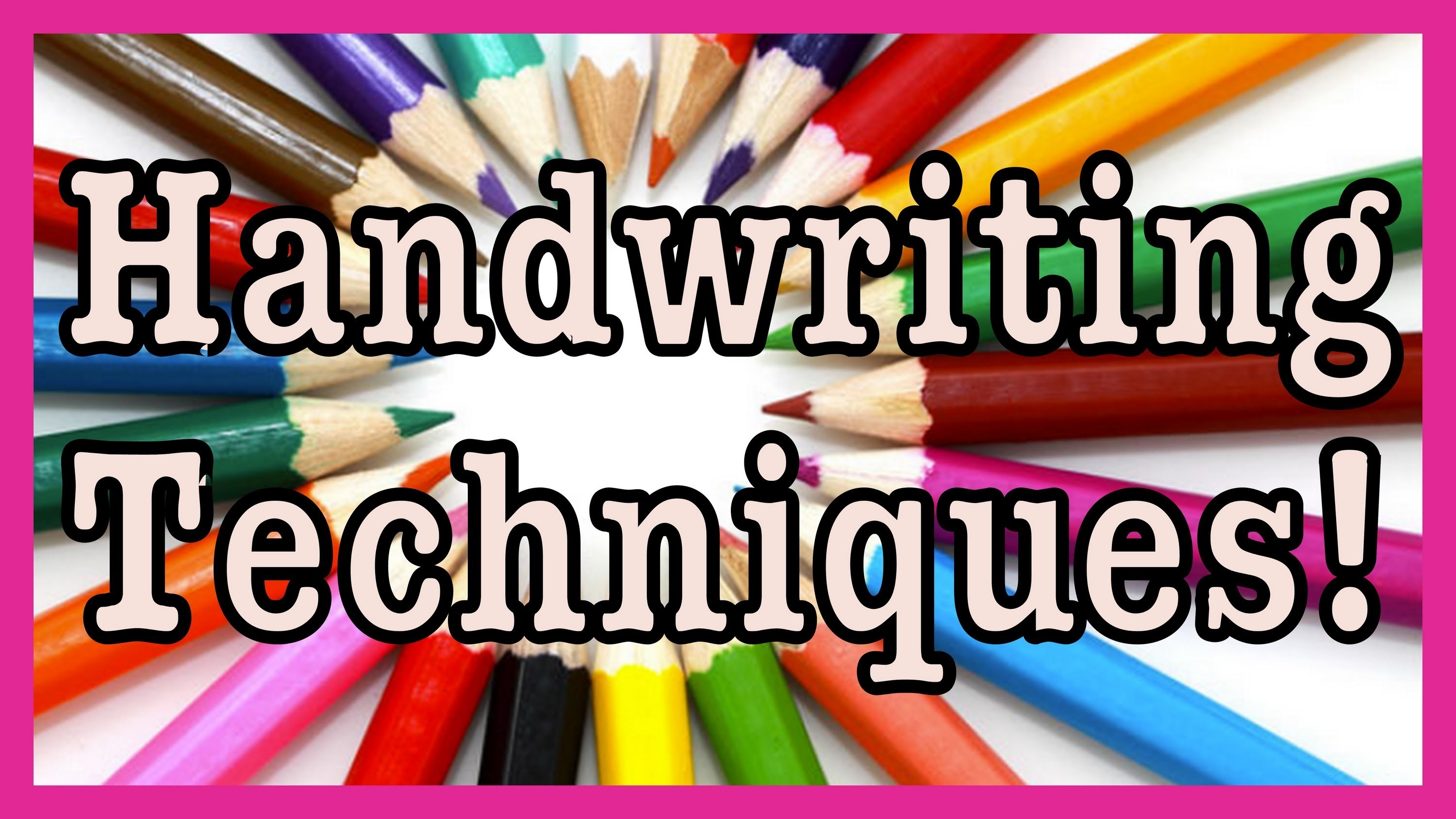 Handwriting Techniques! - Stylin' Font Saturday!