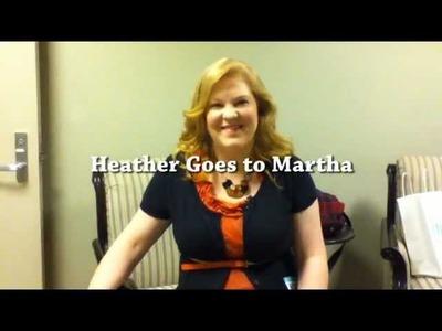 Heather Goes to Martha Stewart Show Dollar Store Crafts Episode