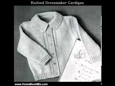 Home Book Review: KNITTED DRESSMAKER CARDIGAN SWEATER - Vintage Baby. Toddler Knitting Pattern (.