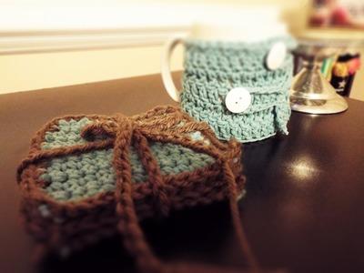 ♡ How To: Crochet Coasters & Coffee Mug Cozy