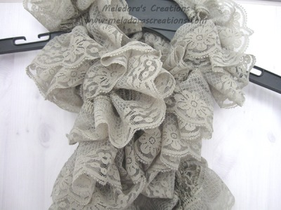How to Knit a Lacy Ruffle Scarf - Left Handed Version