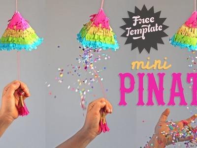 How to make a Piñata: Cute Mini rainbow Piñatas for fiestas!