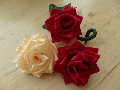How to make a rose flower with ribbon, boutineer or corsage for Mother's day