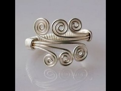 How to Make an Amazing Wire Wrapped Ring - DIY Jewelry Wire Wrap Tutorials .