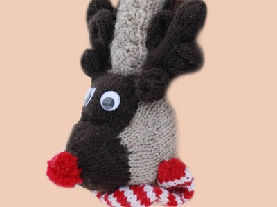 HOW TO MAKE RUDOLPH CHRISTMAS EAR MUFFS - How to assemble my Rudolph Ear Muffs