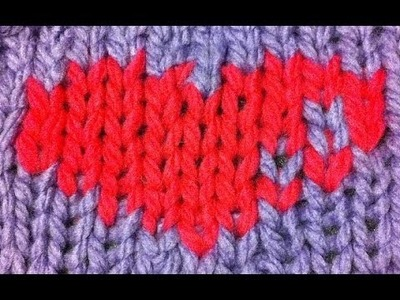 Intarsia (painting with yarn) on a knitting loom