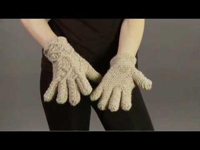 Jared Flood Cabled Gloves, Vogue Knitting Winter 2008.09
