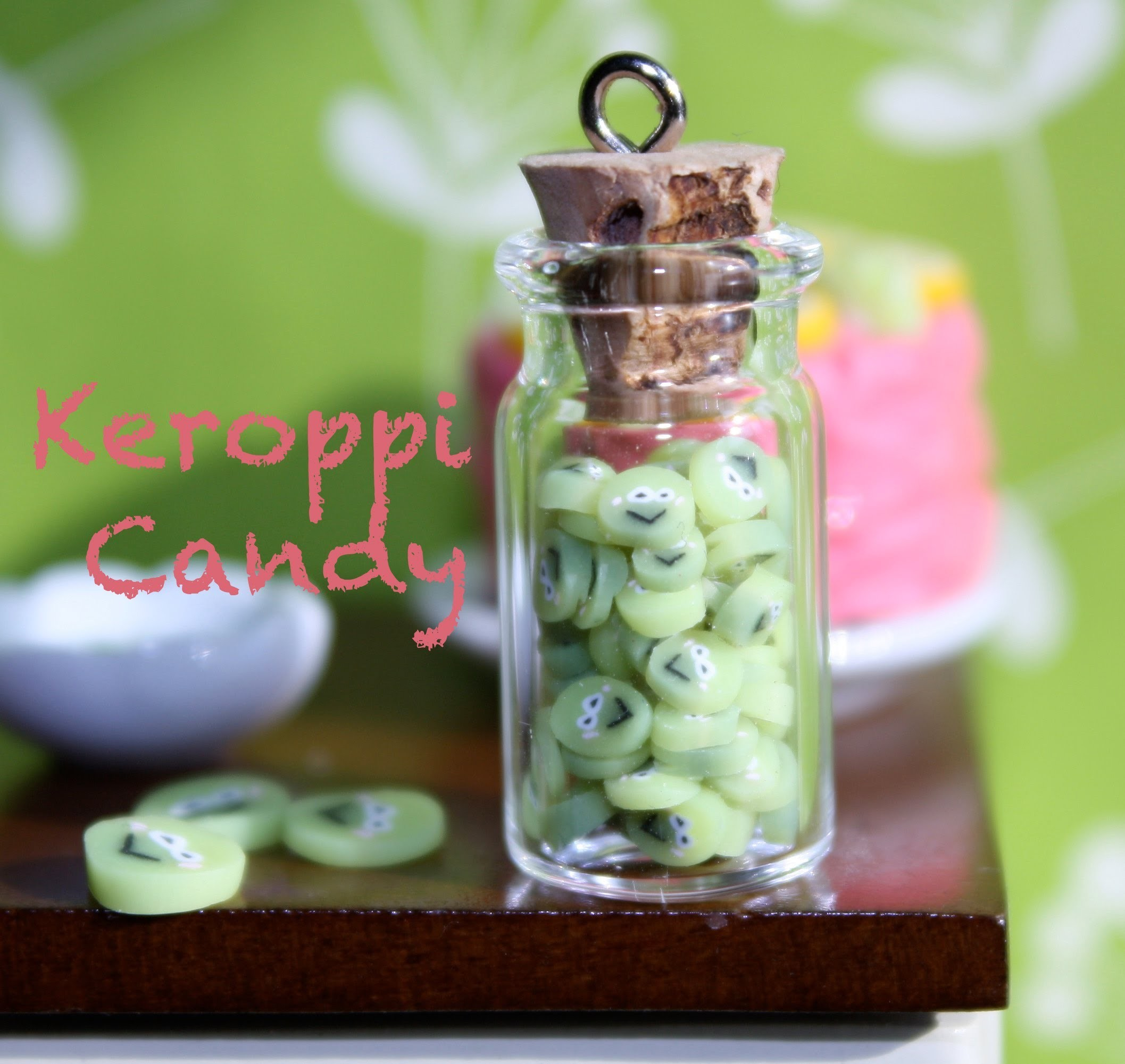 Keroppi Candy - Polymer Clay Cane - Candy Tutorial