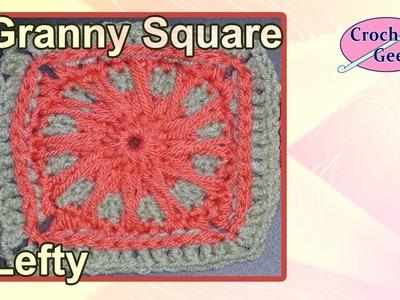 Left Hand Sun Beam Crochet Granny Square Crochet Geek