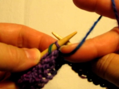 Left Handed Knitting - Purl Stitch