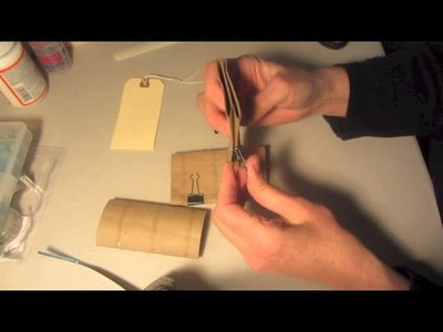 Mini Scrapbook Recycle Toilet Paper Rolls Pocket Book Step 1 Tutorial