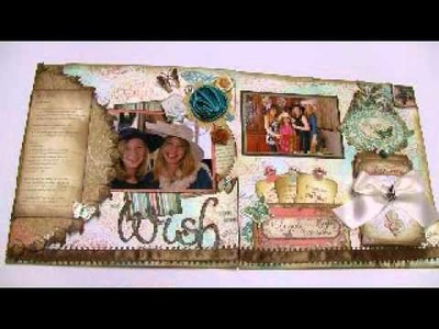My Wish 12x24 Scrapbooking Layouts Two Pages (Gabrielle Bo Bunny)