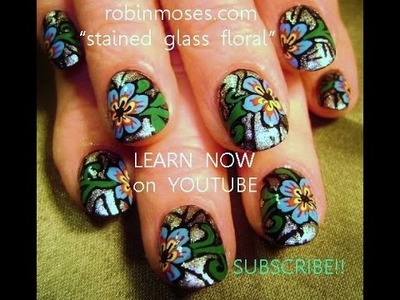 Nail Art Tutorials | DIY Nail art for short nails | Stained Glass Flowers
