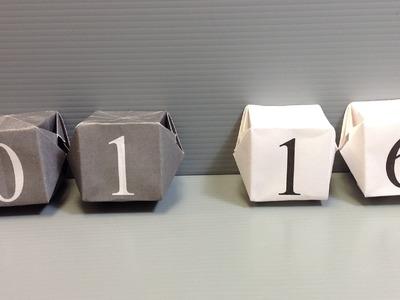 Origami Calendar - Make Your Own Desk Calendar