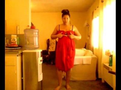 Plus Size: DIY Pin Up Dress in 5 min