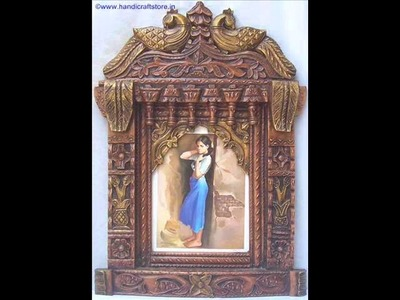 Ragini Poster Painting in wood Crafts Peacock Shape Jharokha Art Crafts & handicrafts