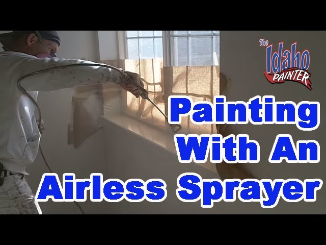 Spraying door jambs, baseboards, doors, and windows. Painting Tips.