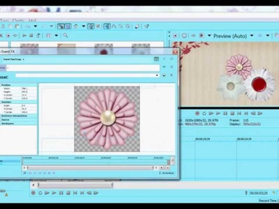 ♦ SV Tutorial ; Scrapbook Effects - Spinning Flowers