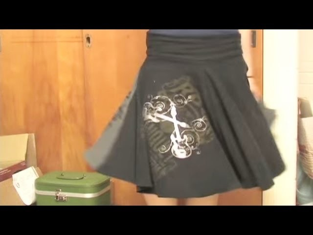 Whitney Sews- T-Shirt Circle Skirt and T-shirt Resize {EASY}