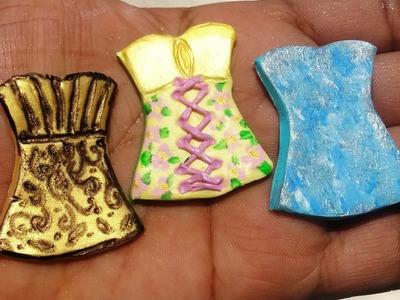 3 Polymer Clay Tutorials in 1 Corsets: Floral Corset, Golden Corset & Queen Elsa Inspired Corset