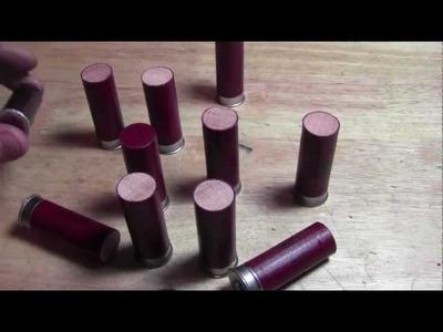 DIY: How To Make Dummy. Inert Training 12 Guage Shotgun Shells