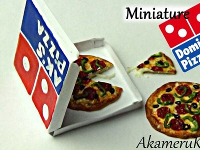 Domino's inspired miniature pizza - Polymer clay tutorial
