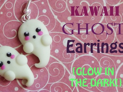 Glow-In-The-Dark Kawaii Ghost Earrings! - Polymer Clay Tutorial {Halloween #3}