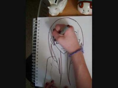 How to draw an Anime.Manga girl