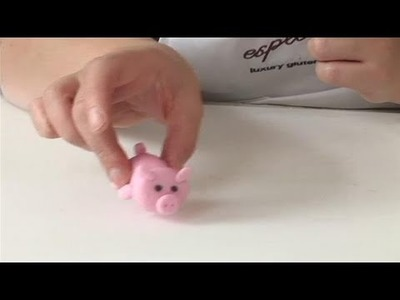 How To Make A Pink Fondant Pig