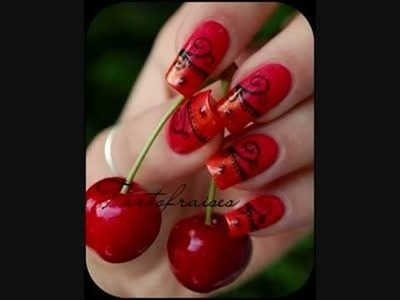 Nail art Red Sexy& hot Cherry Salsa