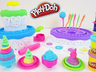 Play-Doh Sweet Shoppe Cake Mountain ✦HUGE✦ Playset with Lollipops & Play Doh Plus!