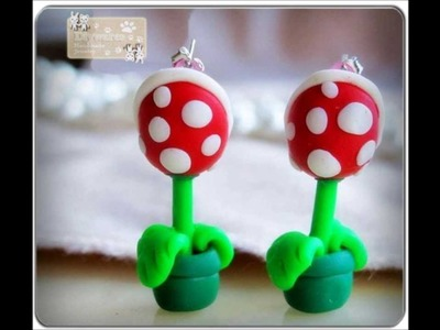 Polymer Clay Earrings Handmade Mario Piranha + more