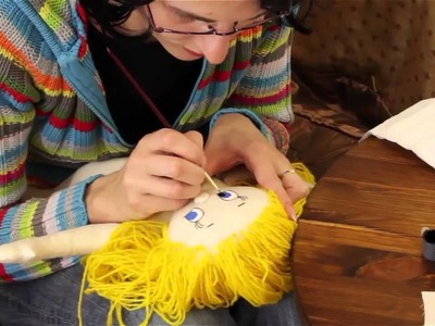 Rag Doll Making: Part 10 - Doll Face Painting