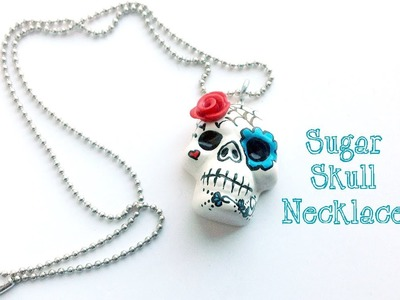 Sugar Skull Necklace, Polymer Clay Tutorial