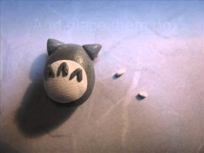 Totoro polymer clay charm tutorial