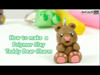 Art Lesson: How to make a Teddy Bear Charm using Polymer Clay