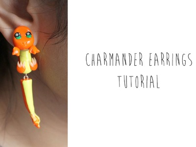Charmander Pokemon Polymer Clay Earrings Tutorial