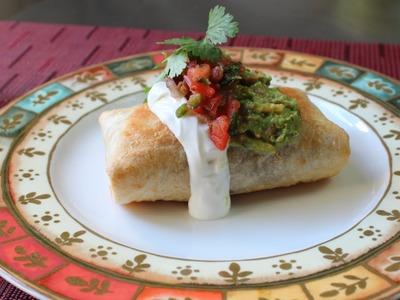 Chicken Mushroom Chimichanga - How to Make a Chimichanga (Oven Fried Burrito)