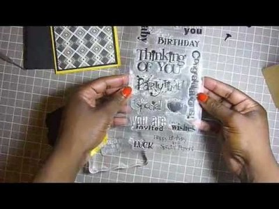 Greeting Card Tutorial: Masculine Birthday Wishes