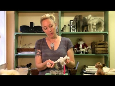 How to Needle Felt - Needle Felting Getting Started: Sarafina Fiber Art Episode 2