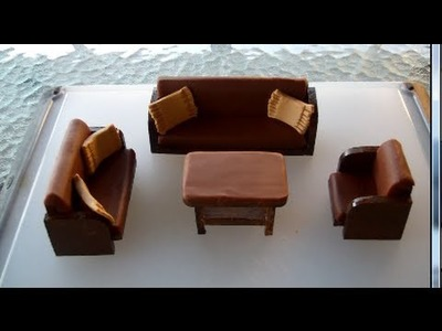 Making of a sofa set from Play-Doh