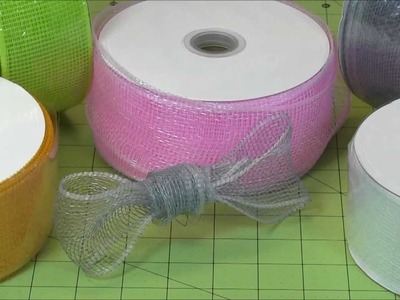 Mesh Ribbons from Paper Mart