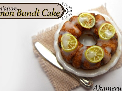 Miniature Lemon Bundt Cake - Polymer clay tutorial