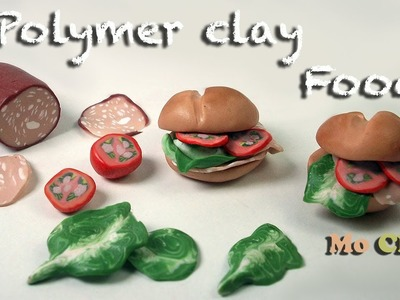 Mortadella Sandwiches Polymer clay tutorial- Collaboration with Sandrartes - miniature food