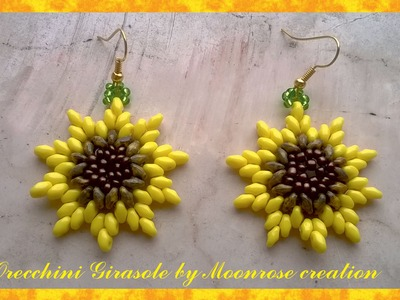 Orecchini Girasole (tutorial Sunflower Earrings)