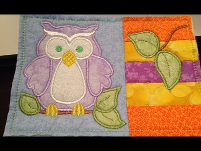Owl Mug Rug Part 2