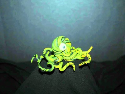 Polymer clay monsters. creatures. figures. Monster Creation