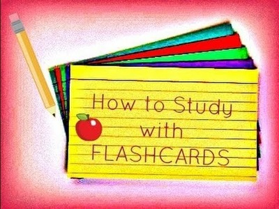 Studying with Flashcards :) - How to Study for Exams & Tests - lx3bellexoxo ♡