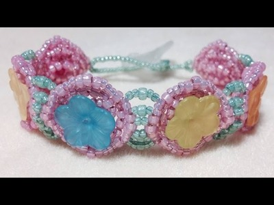 (Tutorial) Flowers In A Basket Bracelet Video (35)