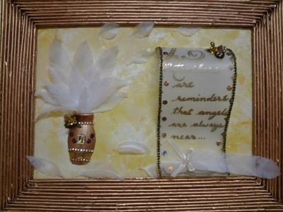 Best Out Of Waste Plastic and Paper used for Wall Decor